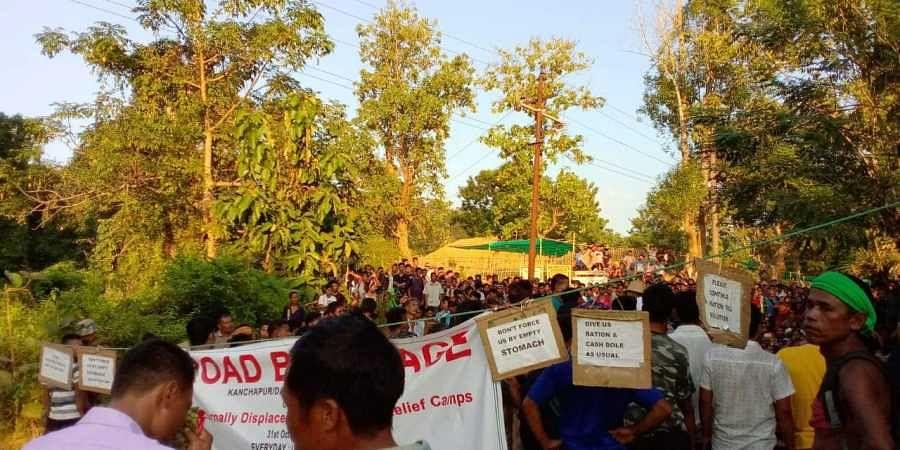bru refugees protest