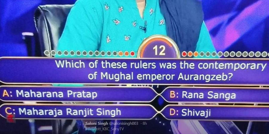 The controversy arose after show host Amitabh Bachchan asked this question on a recent episode.