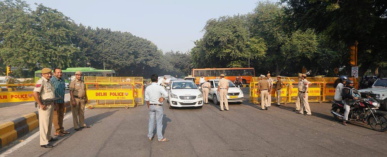 Security outside The Supreme Court in New Delhi on Saturday. (Photo | EPS/Arun Kumar)