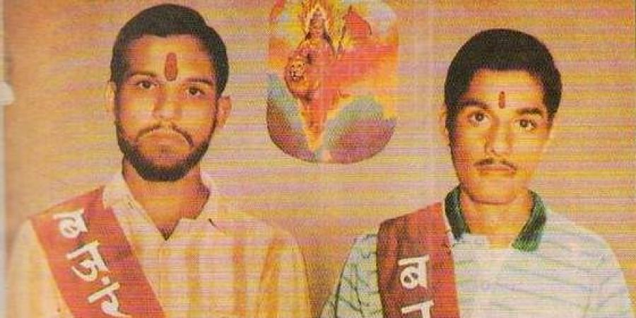 Ram Kothari (L) and Sharad Kothari were killed in police firing at the Ram Janmabhoomi site in Ayodhya in Uttar Pradesh in 1990