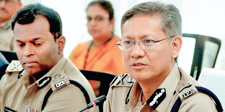 DGP Gautam Sawang addressing media at the Andhra Pradesh Police Headquarters at Mangalagiri on Friday.