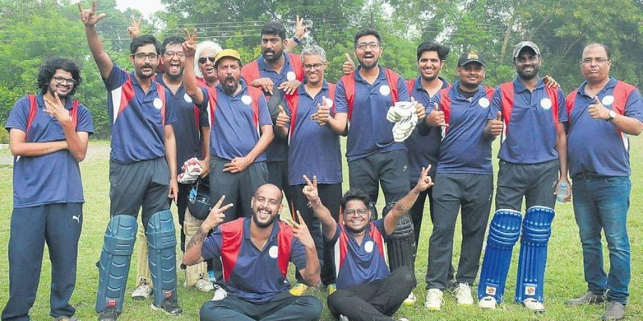 South Zone players pose after winning the JK Bose Trophy, in Nagpur on Friday.