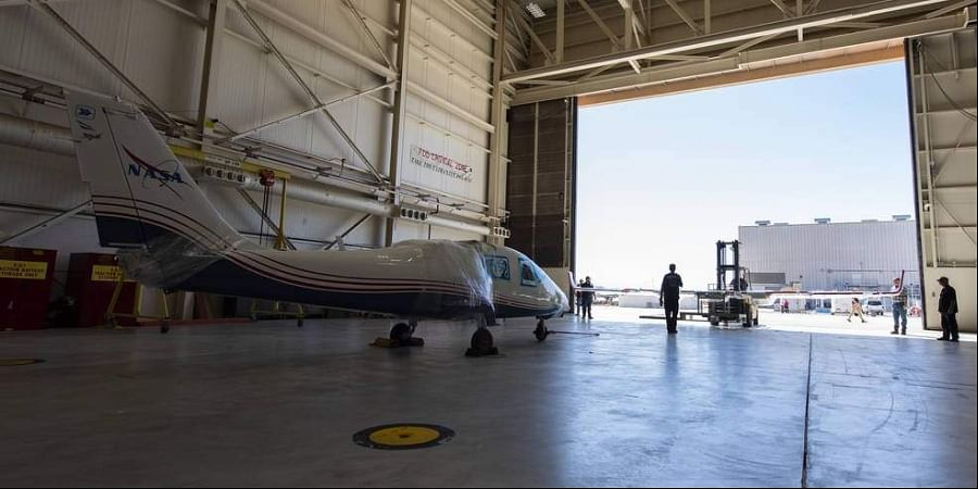 NASA's X-57 Maxwell, the agency's first all-electric X-plane and first crewed X-planed in two decades, is delivered to NASA's Armstrong Flight Research Center in Edwards, California, in its Mod II configuration.
