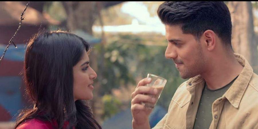 Megha Akash and Sooraj Pancholi in 'Satellite Shankar'.