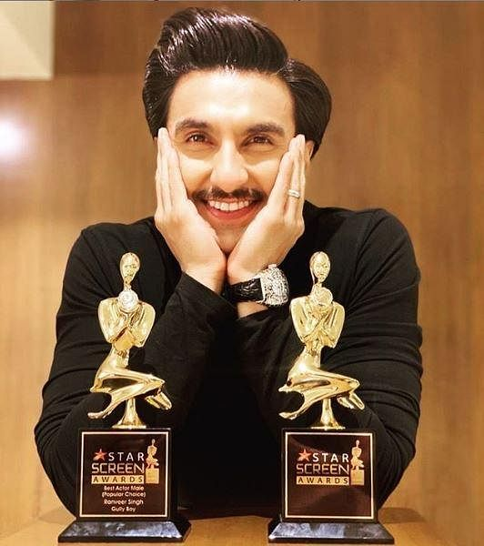 Ranveer Singh bagged the 'Best Actor (Male)' for 'Gully Boy' and 'Entertainer of the Year'.
