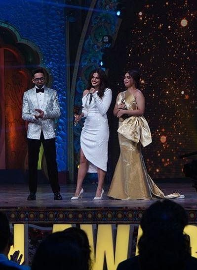 Bhumi Pednekar and Taapsee Pannu both won the award for 'Best Actor Critics Choice (Female)'