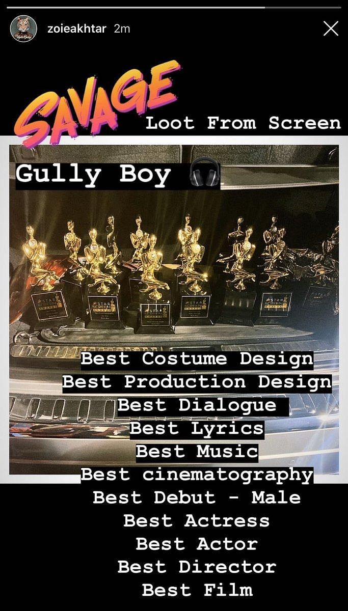 Zoya Akhtar proved she is the 'Best Director' not only because she won the same title for 'Gully Boy' but also cause she posted a picture of the entire crew's victory