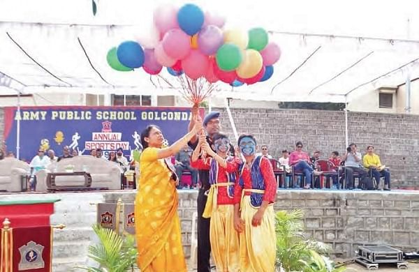 Army Public School in Hyderabad's Golconda have ariot of colours and vibrancy