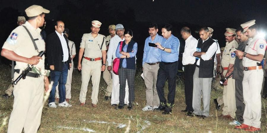 NHRC team inspect the Chatanpally encounter site on Saturday