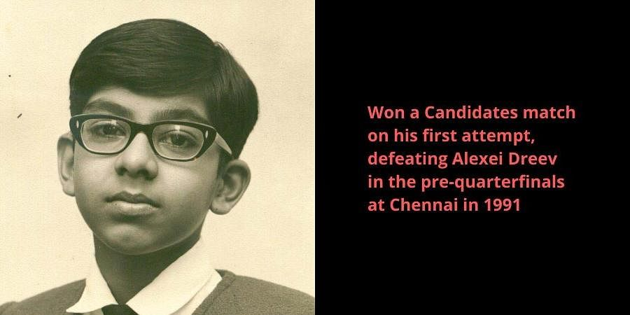 Grand Master Viswanathan Anand during his younger days.