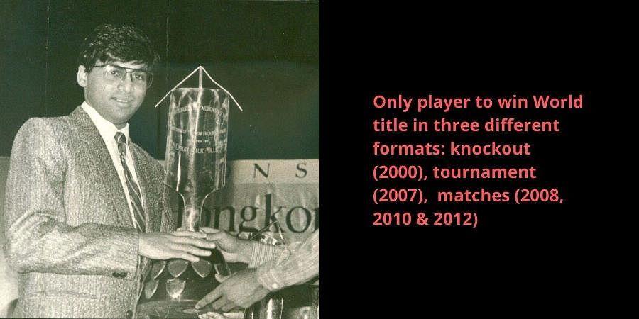 Grand Master Viswanathan Anand receiving an award.