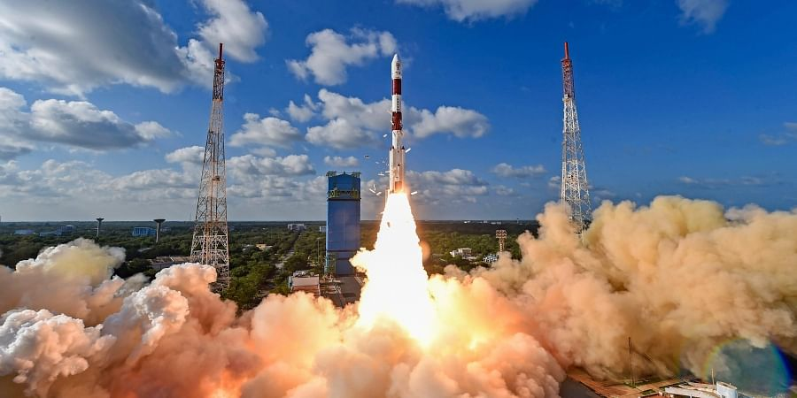 ISRO's workhorse rocket PSLV-C48 carrying India's radar imaging earth observation satellite RISAT-2BR1 and nine foreign satellites blasts off from the spaceport in Sriharikota Wednesday Dec. 11 2019. (Photo | PTI)