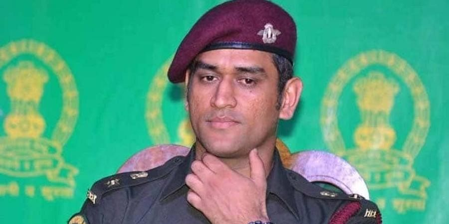 Indian cricketer and honorary Lieutenant Colonel MS Dhoni
