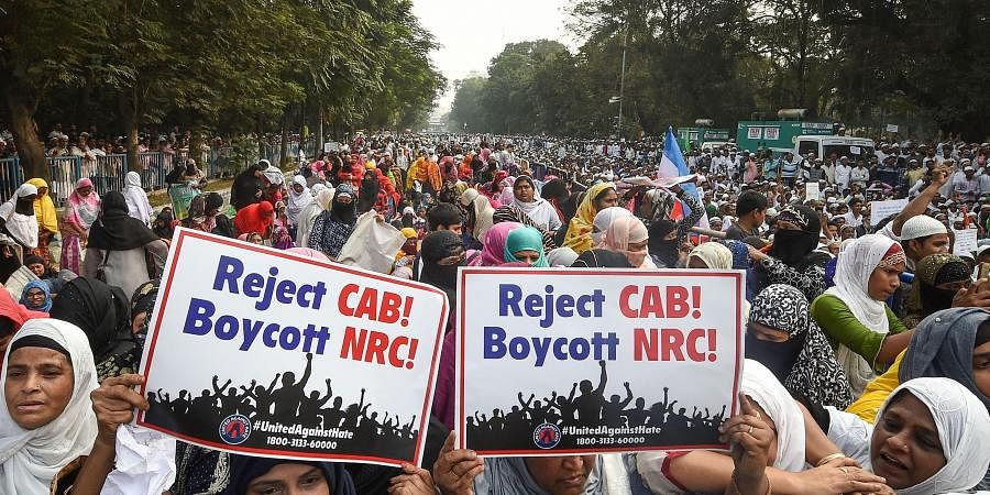 Muslims take part in a protest rally against CAB and NRC in Kolkata Friday Dec. 13 2019. (Photo   PTI)