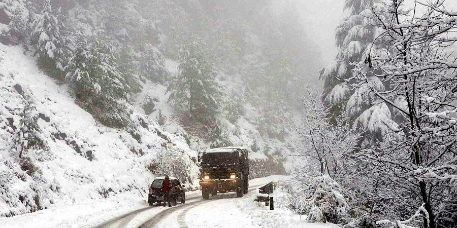 While the plains of Jammu and Kashmir received moderate snowfall, the upper reaches witnessed heavy snowfall.