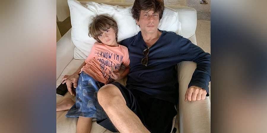 Shah Rukh Khan and son Abram.