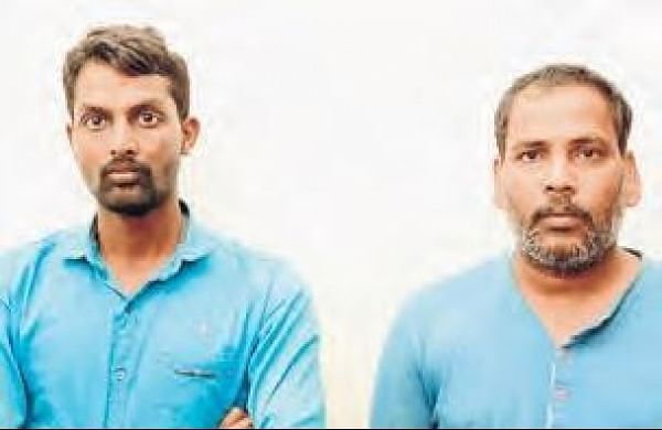 Two persons held for smuggling red sanders in HyderabadbyRachakonda police