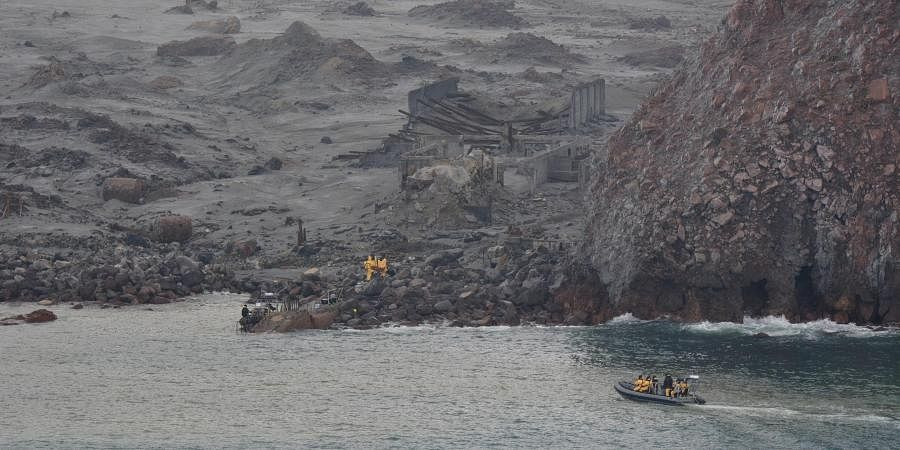 An operation to recover bodies from White Island takes place after a volcanic eruption in Whakatane, New Zealand