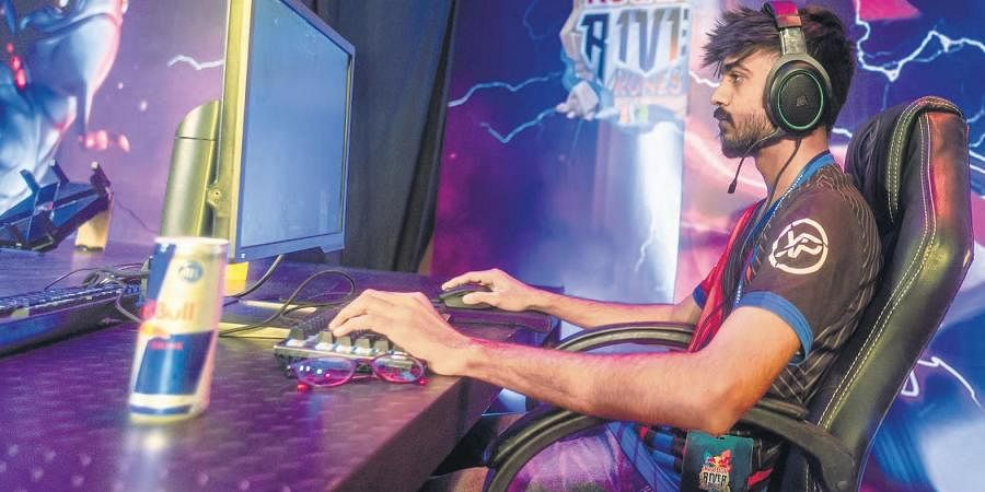 ESports player at the gaming arena held at HICC