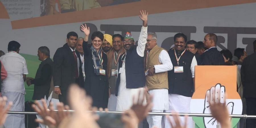 Priyanka Gandhi at Bharat Bachao Rally in Delhi