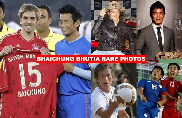 As Indian football legend Bhaichung Bhutia turns a year older, let us take a look at some rare snaps of the 'Sikkimese Sniper'.