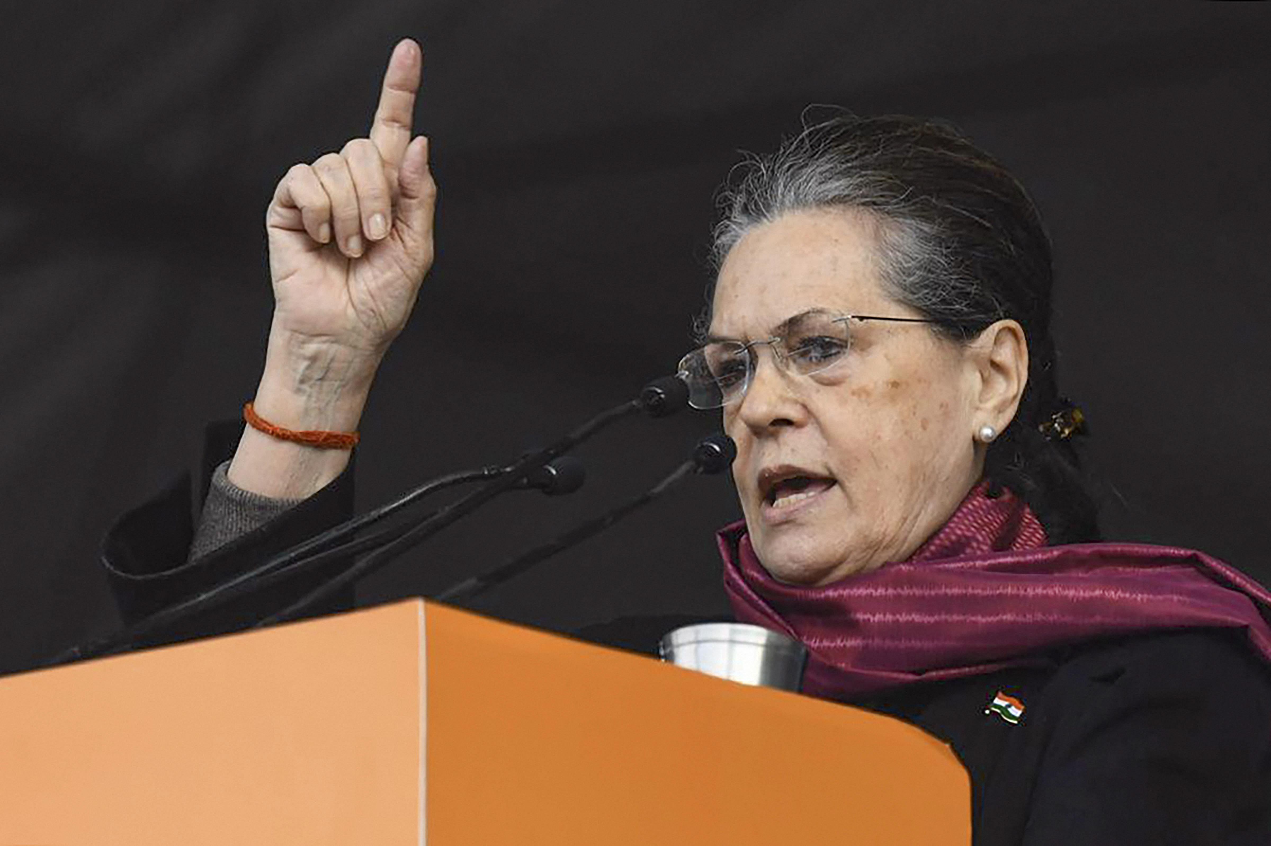 Congress President Sonia Gandhi - PTI