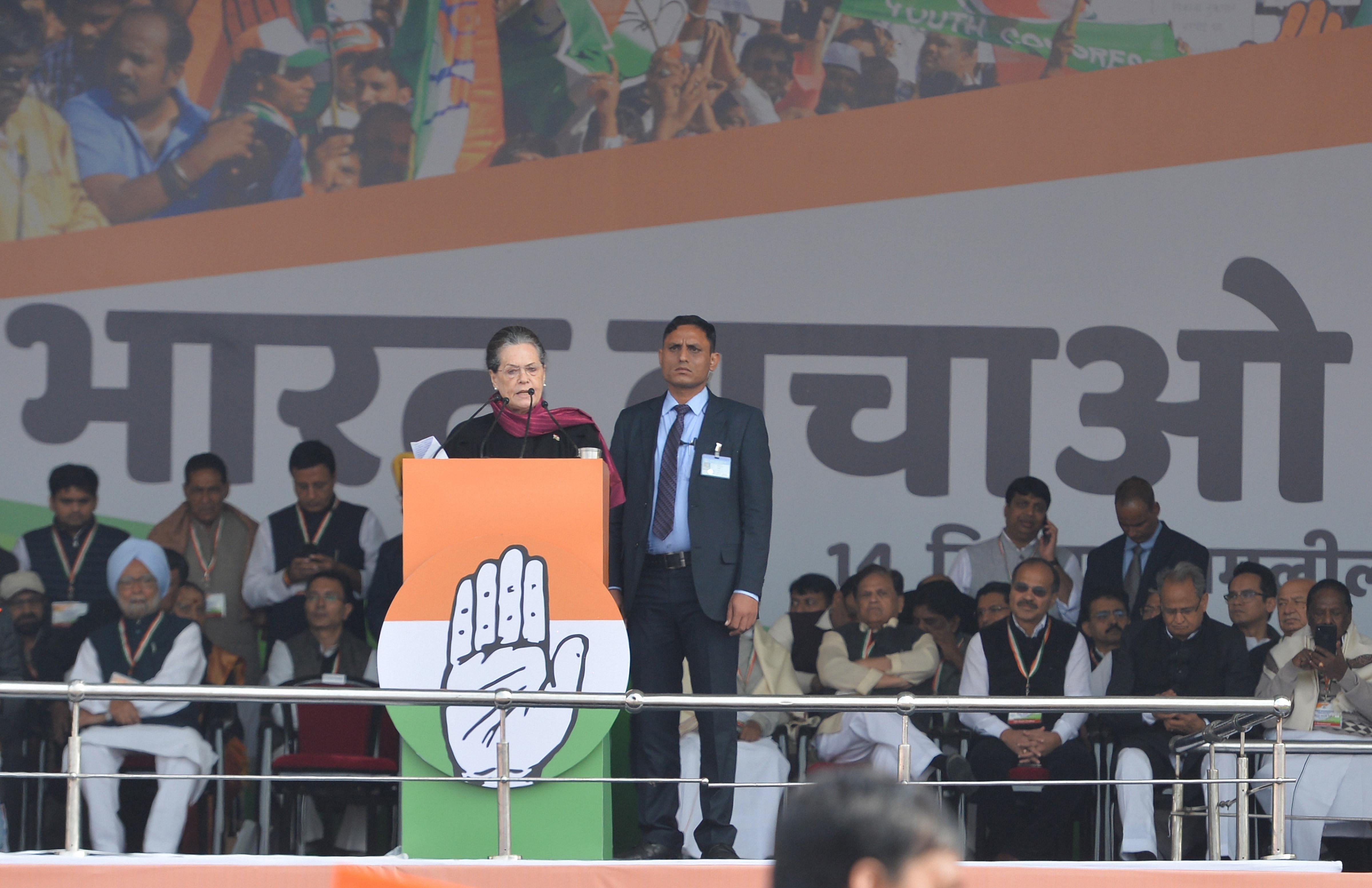 Congress President Sonia Gandhi-PTI