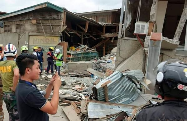Three dead, seven missing as building collapses in Philippine earthquake