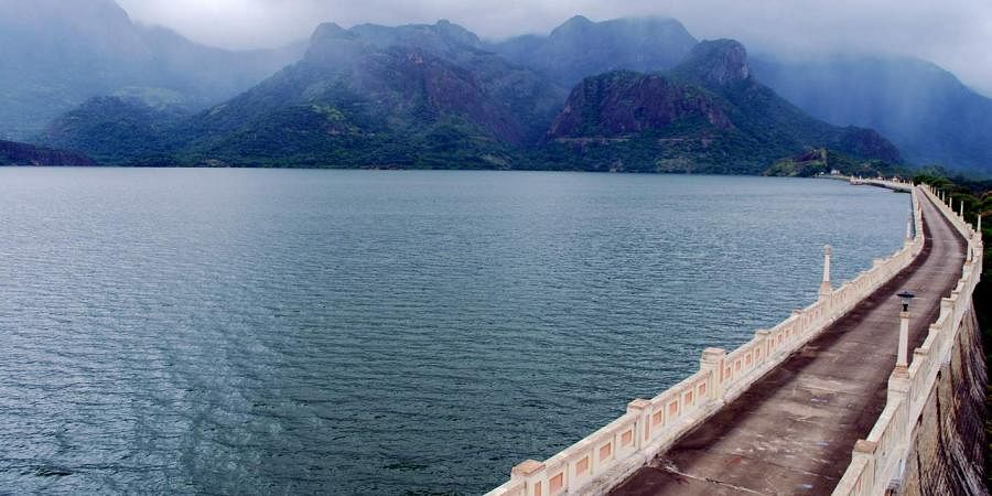 A view of the Aliyar dam