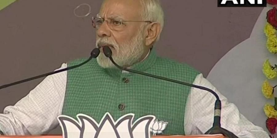 Modi claimed that leaders of the opposition parties have only built palaces for themselves without being concerned about the problems faced by the people.
