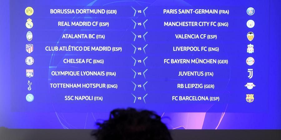 champions league draw liverpool face atletico madrid while manchester city take on real madrid the new indian express champions league draw liverpool face