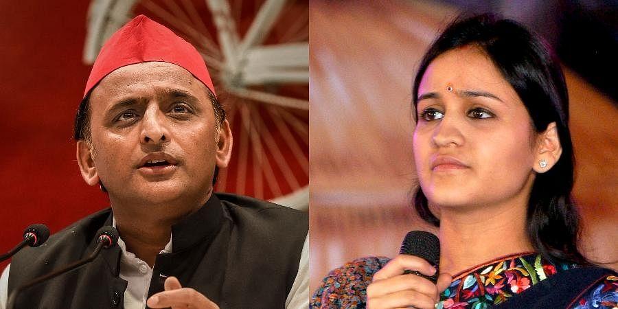 SPpresident Akhilesh (L) and Aparna Yadav