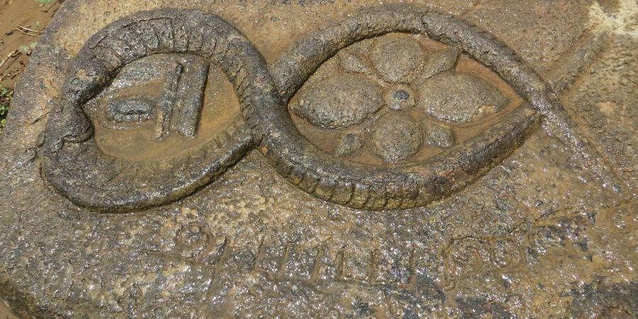 Stone engraving and sculptures found near Musiri in Tiruchy