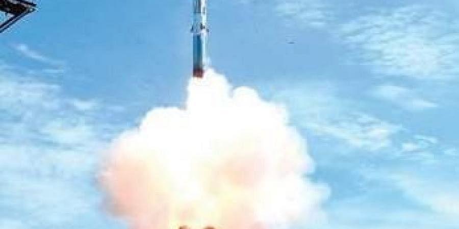BrahMos missile being test fired off Odisha coast on Monday