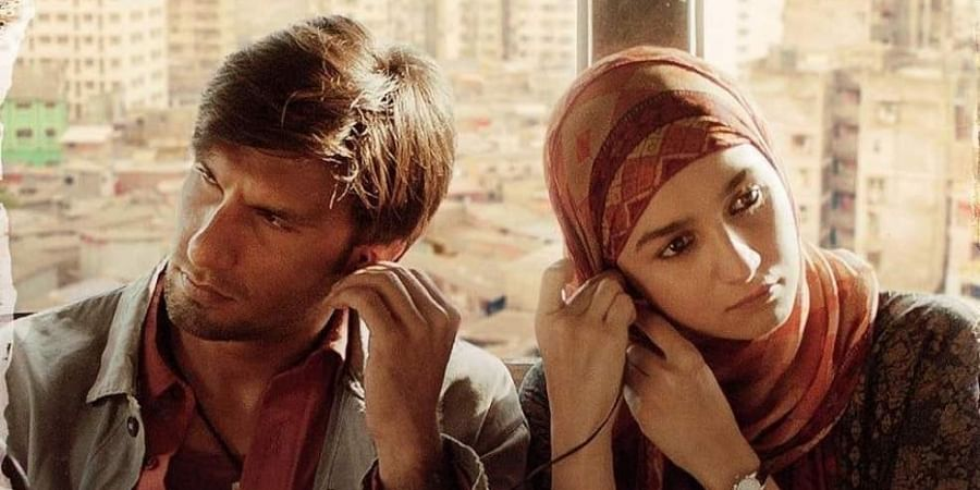 A screengrab of the poster of 'Gully Boy'