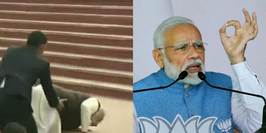 Last week, during his visit to Kanpur for the 'Namami Gange' project meeting, PM Narendra Modi had tripped on these stairs.
