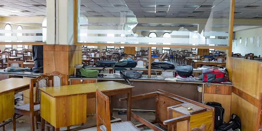 Jamia Millia Islamia University library vandalised on Sunday night during a clash between police and students in New Delhi