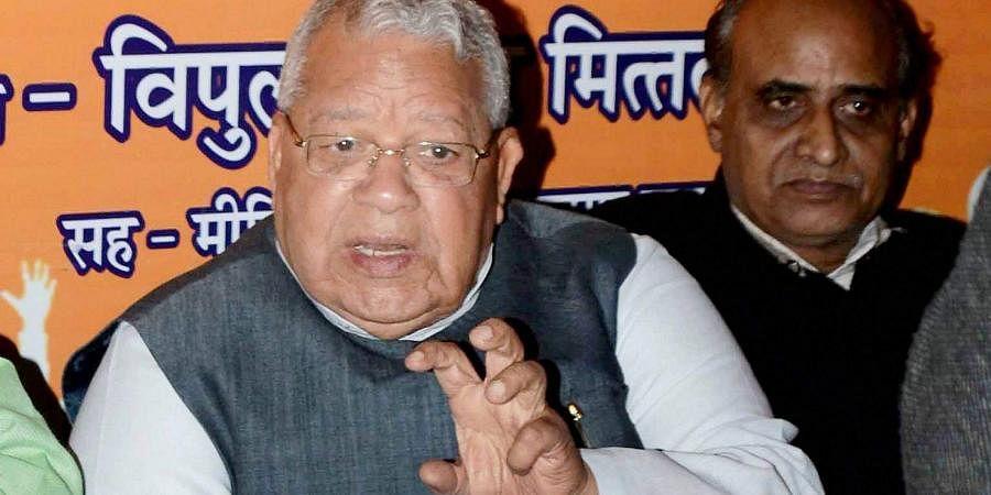 Rajasthan Governor-designate Kalraj Mishra