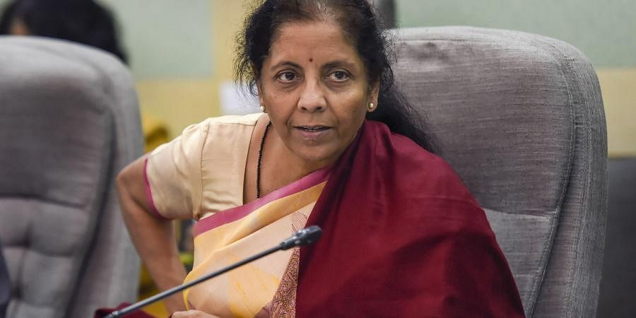 Union Finance Minister Nirmala Sitharaman chairs a pre-budget meeting with economists in New Delhi Friday Dec. 20 2019.