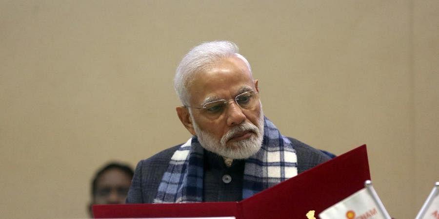 Prime Minister Narendra Modi during the annual AGM conference of ASSOCHAM in New Delhi