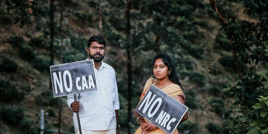 Kerala Couple S Pre Wedding Photos Holding No Caa Placards Go Viral The New Indian Express