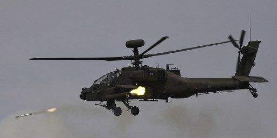 Apache AH-64E (I) attack helicopters. (File | AFP)