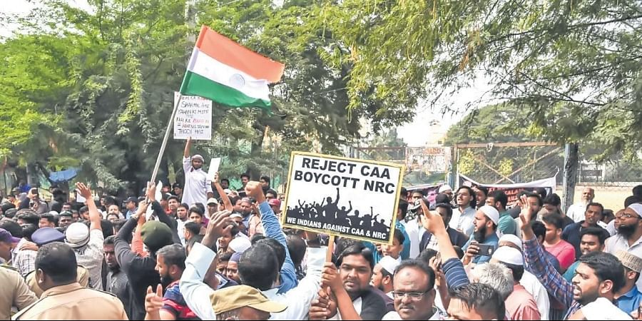 Protest rally against CAA and NRC at hockey ground in Hyderabad