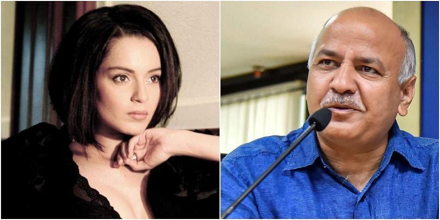 Bollywood star Kangana Ranaut and Delhi Deputy Chief Minister Manish Sisodia
