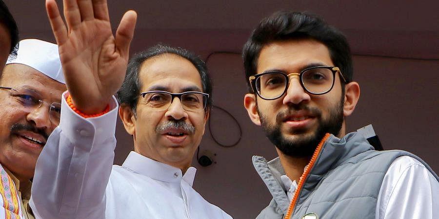 Maharashtra Chief Minister Uddhav Thackeray and Shiv Sena leader Aditya Thackeray