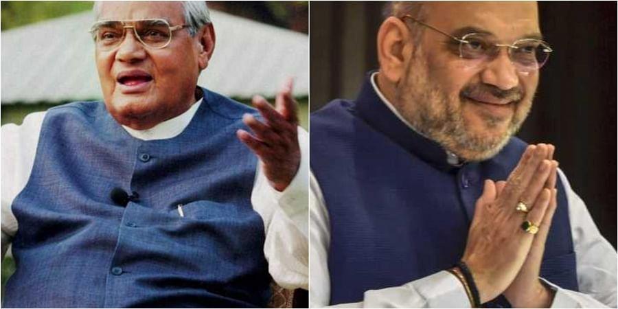 Atal Bihari Vajpayee (L) and Amit Shah. (File   Agencies)