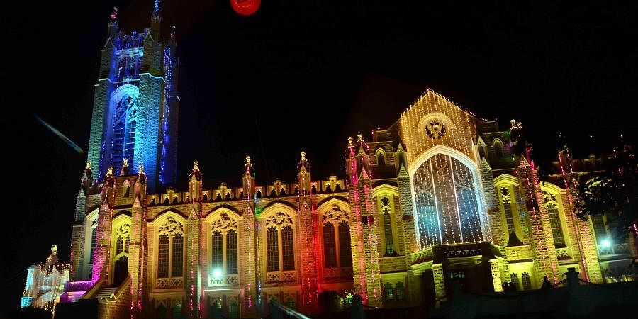 Medak Church on the eve of Chirstmas celebrations on Tuesday.