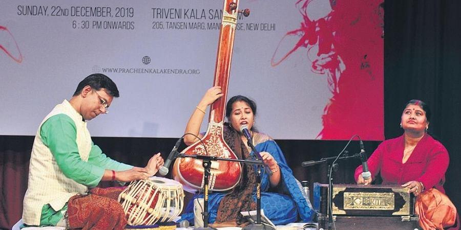 Anisha Ray with Durjay Bhowmik and Paromita Mukherjee