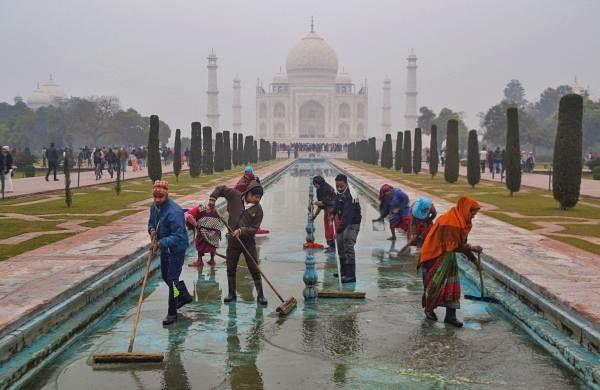 As Trump visit draws near, Yamuna and Taj Mahal make overtake centre-stage