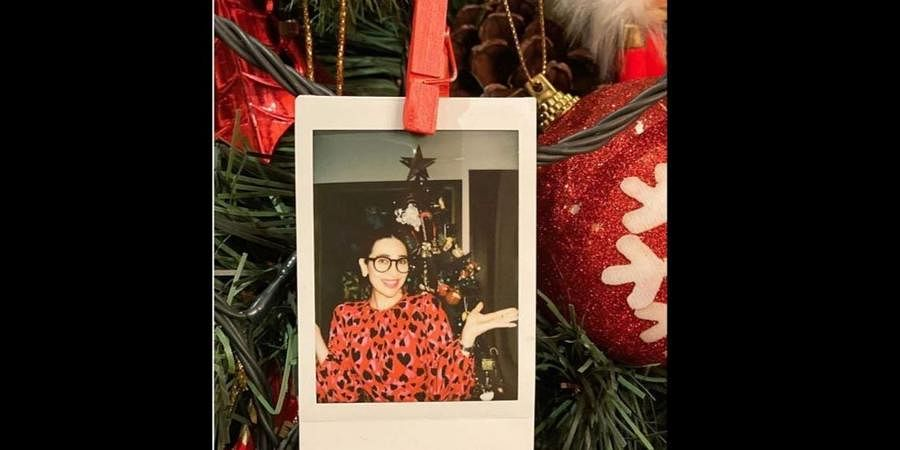 Karishma Kapoor at the annual Christmas lunch of the family.